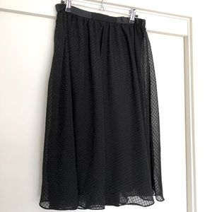 LUCCA COUTURE Black swing skirt, sheer layers